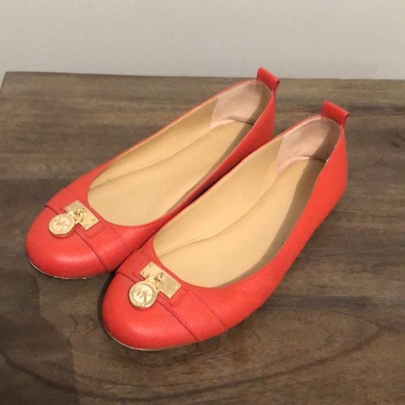 Michael Kors Shoes - Michael Kors orange Flats